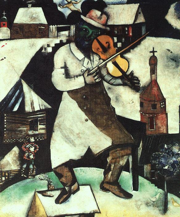 Vite. Chagall, il violinista verde