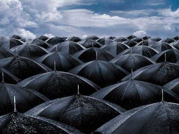 Il cimitero degli ombrelli dimenticati