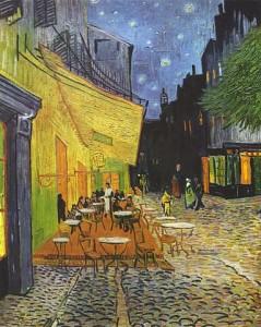 Vincent Willem van Gogh, Terrazza del caffè la sera, Place du Forum, Arles