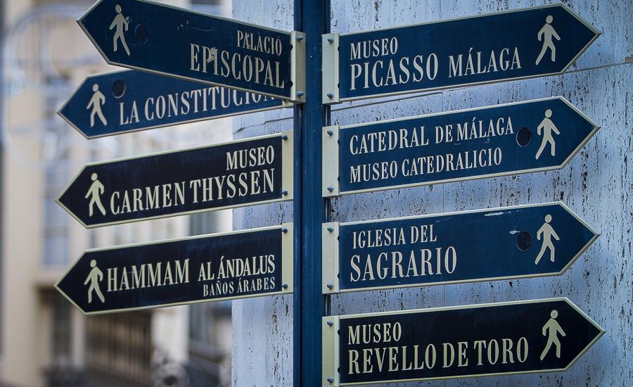 viaggio in Spagna, segnali a Malaga