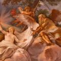 affresco di Mariano Rossi nel salone d'ingresso di Villa Borghese a Roma.