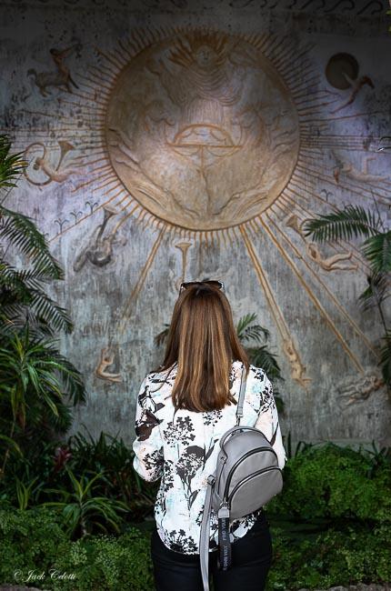 visitatrice del Tempio del Sole